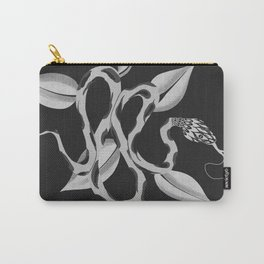 White Snake drawing digital artwork Carry-All Pouch
