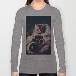 Beautiful cat astronaut Long Sleeve T-shirt