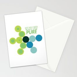 Does Holy Water Make You Pure Stationery Cards