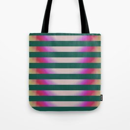 Teal Stripes Tote Bag
