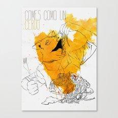 Comes como un cerdo (you eat like a pig) Canvas Print