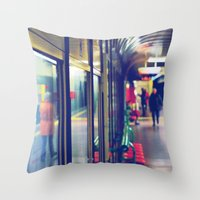 subway Throw Pillows featuring subway. by zenitt