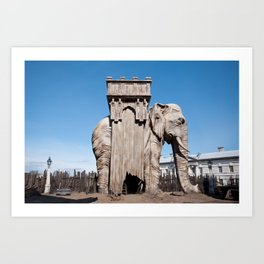Elephant of the Bastille Art Print