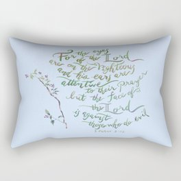 Eyes of the Lord - 1 Peter 3:12 Rectangular Pillow