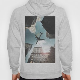 nyc downtown with plane Hoody