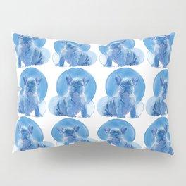 Monochromatic French Bulldog Pillow Sham