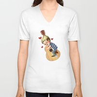 niall V-neck T-shirts featuring Niall LOVE by RUBYCURLS