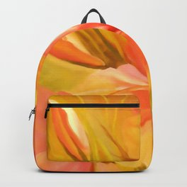 hibiscus flower-Oil painting Backpack