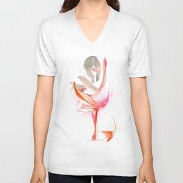Expressive Dance Drawing Unisex V-Neck