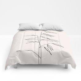 Japanese style plant illustration - Olivia I Comforters