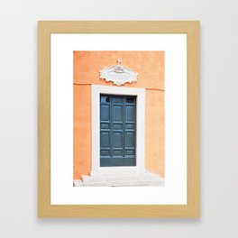 119. Roman's Door, Rome Framed Art Print