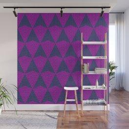 Arrows >>Navy+Pink Wall Mural