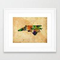 north carolina Framed Art Prints featuring North Carolina by TiannaHarman