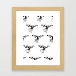 Guacamaya pattern Framed Art Print