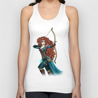 merida Tank Tops featuring Steampunk Merida by Hungry Designs