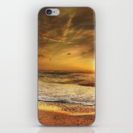 Sunset Over the North Sea iPhone Skin