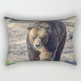 BROWN BEAR WALKING TOWARD CAMERA Rectangular Pillow