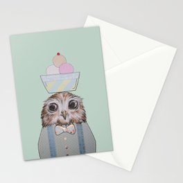 The Ice-Cream Owl Stationery Cards