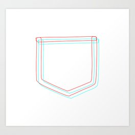 3D Pocket Art Print
