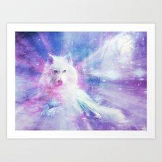 Majestic Wolf Art Print