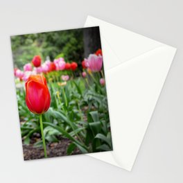 Spring in the city Stationery Cards