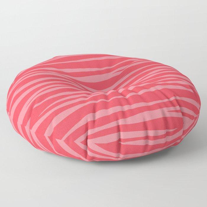 Zebra Print - Coral Macaroon Floor Pillow