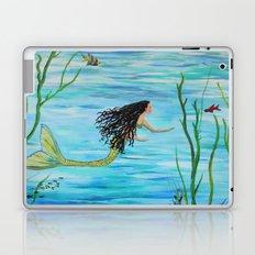 Under the Sea Mermaids Swim Laptop & iPad Skin