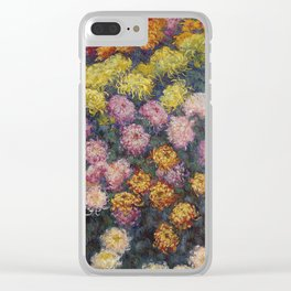 Claude Monet - Bed Of Chrysanthemums Clear iPhone Case