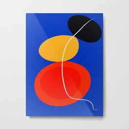 red yellow black blue abstract zen minimal art Metal Print