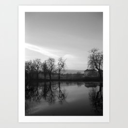 Winter Ripple Black & White Art Print