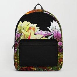 Tulips (black background) Backpack