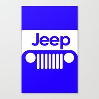 jeep Canvas Prints featuring Jeep by rita rose