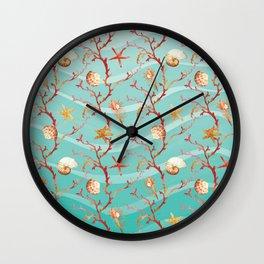 Marine Pattern 11 Wall Clock