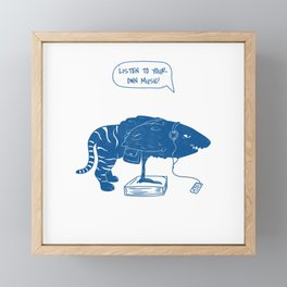LISTEN TO YOUR OWN MUSIC CREATURE Framed Mini Art Print