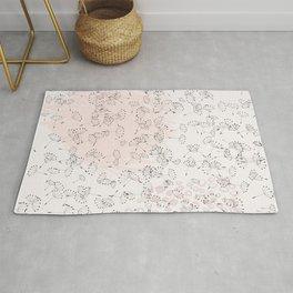 Dandelion field. Abstract pattern Rug