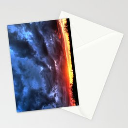 Angry Sunset Stationery Cards