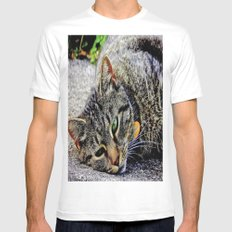 Those Green Eyes Mens Fitted Tee White MEDIUM