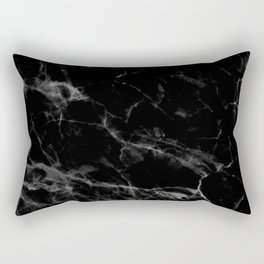 Black Marble Rectangular Pillow