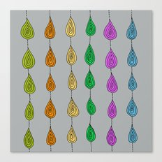 Candy Raindrops Canvas Print