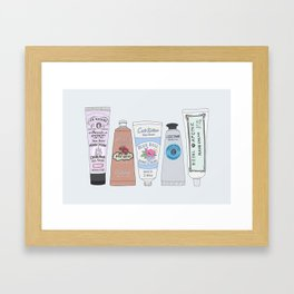 Favorite Hand Cream Collection Framed Art Print