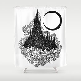 Star Towers Shower Curtain