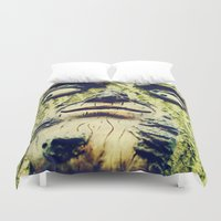 1984 Duvet Covers featuring Mother Nature is watching you -1984- by iGems
