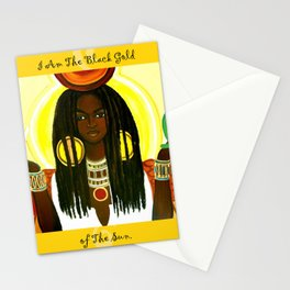 Ma'at Black Gold Stationery Cards