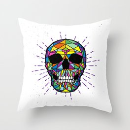 COLOR-SKULL Throw Pillow