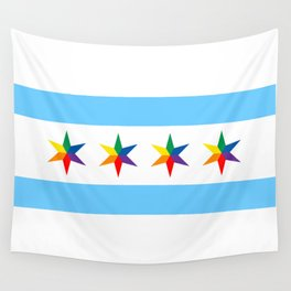 Chicago Pride Flag Wall Tapestry