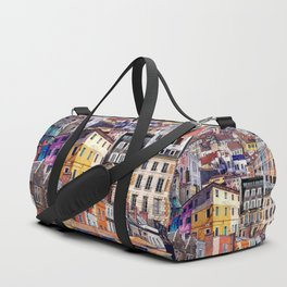 City Structures Collage Duffle Bag