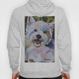 Westie Impressionism Pet Portrait Larsen 1 Hoody