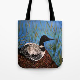 Loon on the Nest  Tote Bag