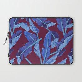Tropical '17 - Blue Bird Of Paradise [Banana Leaves] Laptop Sleeve