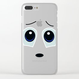 Vulnerable Smiley Face Clear iPhone Case
